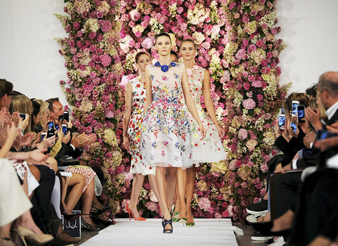 Floral Roses on the Runway